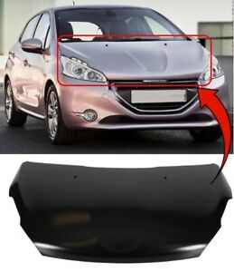 Bonnet With Square Washer Jet Holes Peugeot 208 2012 On Brand New High Quality