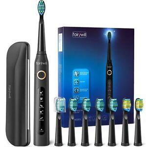 Fairywill eléctrico cepillo de dientes sónico Negro Recargable Estuche de viaje