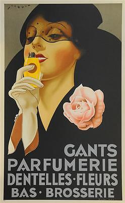Gants Perfumerie Advertising Poster Fine Art Lithograph Andre Wilquin COA S2