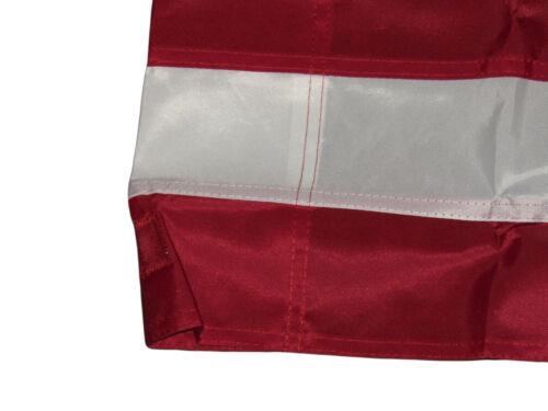 3x5 Embroidered Sewn USA American 50 Star 300D Nylon Flag Sleeve 2 Clips