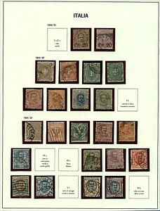 Italy-1890-01-range-of-numeral-and-portrait-definitive-issues-with-90-s-Stamps