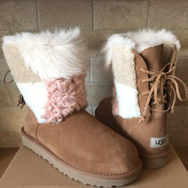 576f01a1965 UGG Classic Cuff Short Chestnut Suede Sheepskin Womens BOOTS Size US 8