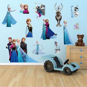 Eiskoenigin-Wandtattoo-Wandsticker-Elsa-Frozen-Wandaufkleber-Kinderzimmer-Dekor