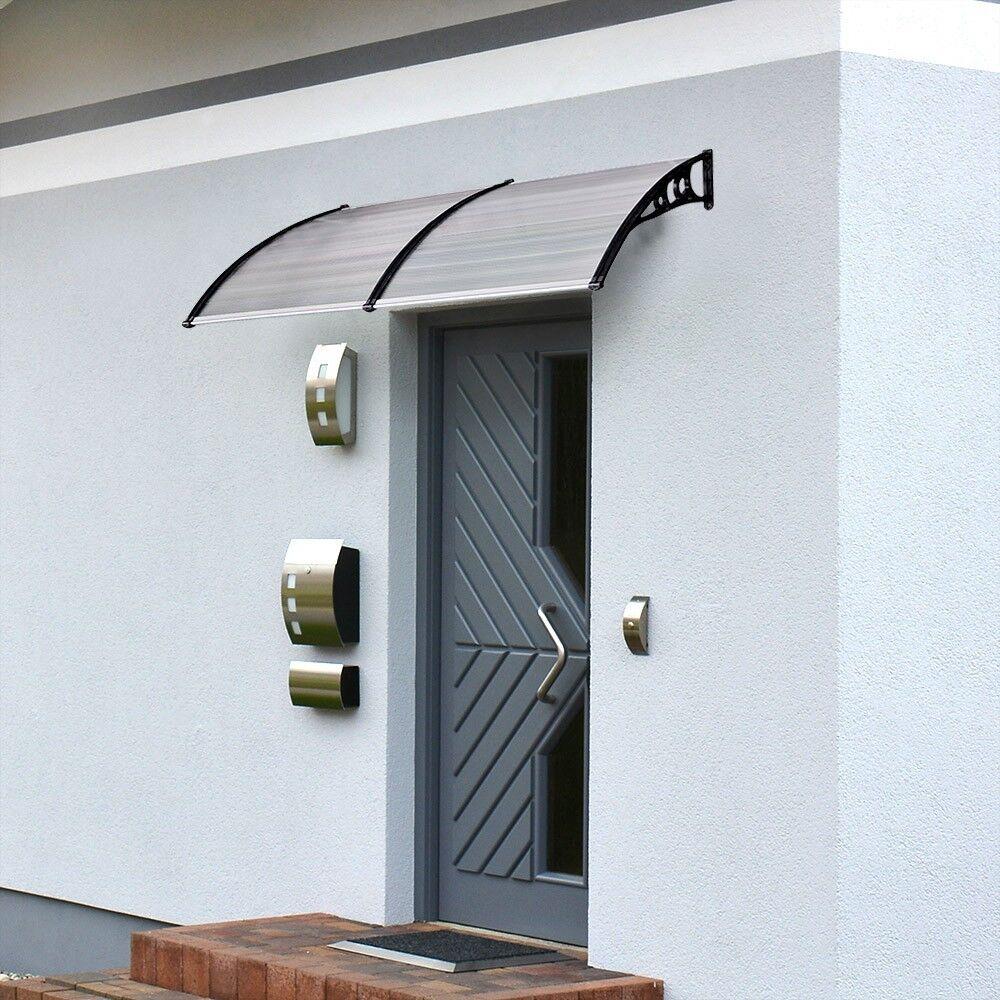 HOME DELUXE Vordach gekrümmt Tür Türvordach Haustür Polycarbonat Überdachung