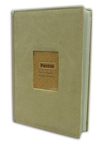 Photo-Album-Holds-300-4x6-pictures-3-per-page-Suede-Cover-Beige