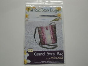 Carmel-Swing-Bag-Purse-Pink-Sand-Beach-Designs-Uses-2-1-2-034-Strips-Easy-to-Sew