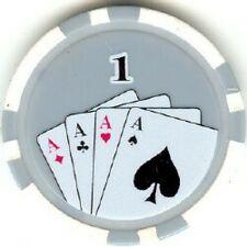 4 pc 4 colors 11.5 gram Cards Hands poker chip samples #88