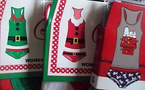 Secret-Santa-Women-039-s-Tank-amp-Hipster-Panty-Sleepwear-Underwear-2-Piece-Set