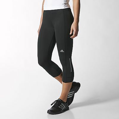 adidas Sequencials Climacool 3/4 Running Tights Women's Black