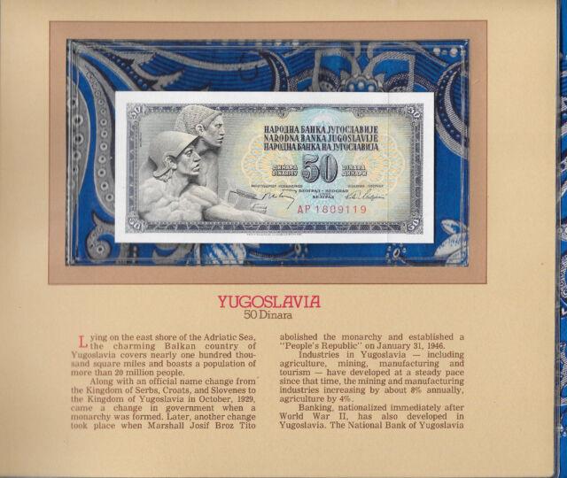 YUGOSLAVIA   50  DINARA 1968  P 83c  LOT 2 PCS   Uncirculated  PREFIX AA