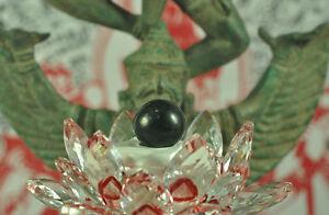 Garuda Eye Black LEKLAI Natural Sphere Shape Thai buddha psychic AMULET RARE