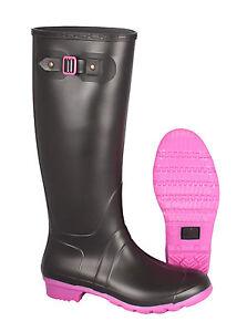 new concept 930e1 a86b7 Details zu G&G Damen Gummistiefel PVC Regenstiefel Lampo fuchsia schwarz  pink Festival