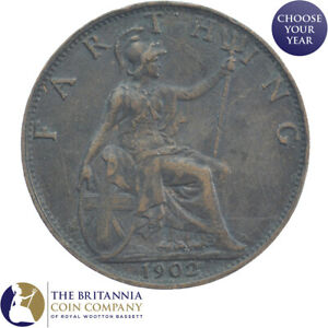 1902-To-1910-King-Edward-VII-Britannia-Centime-choisissez-votre-annee