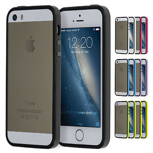 TPU-Bumper-iPhone-5-5S-SE-Schutz-Rahmen-Huelle-Silikon-Schale-Cover-Case-Folie