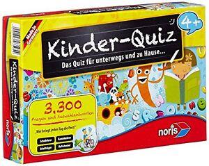 Noris-Spiele-Kinder-Quiz-4-Kinder-Spielzeug-Wissen-Quizspiele-Party-Spiel-NEU