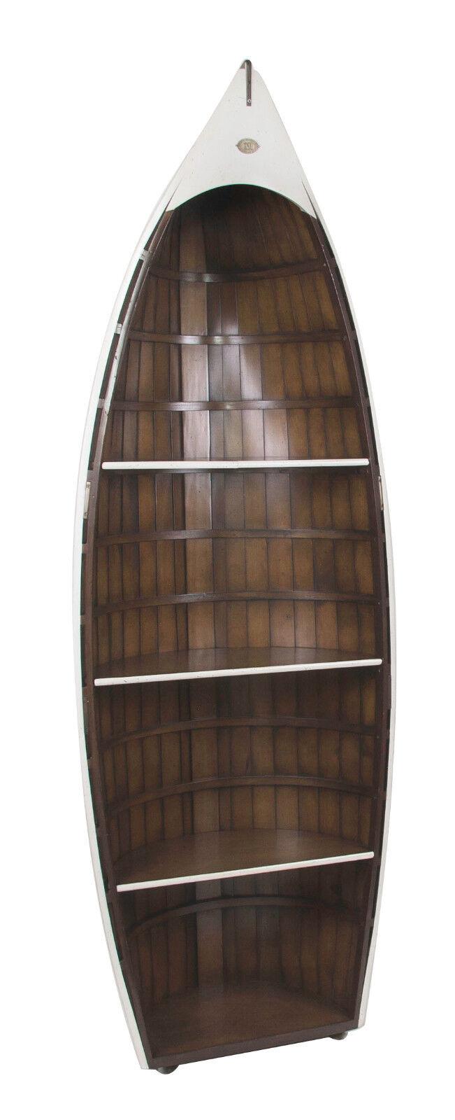 Bosun S Gig White Row Boat Bookcase 73 Bookshelve Wooden Nautical Decor New