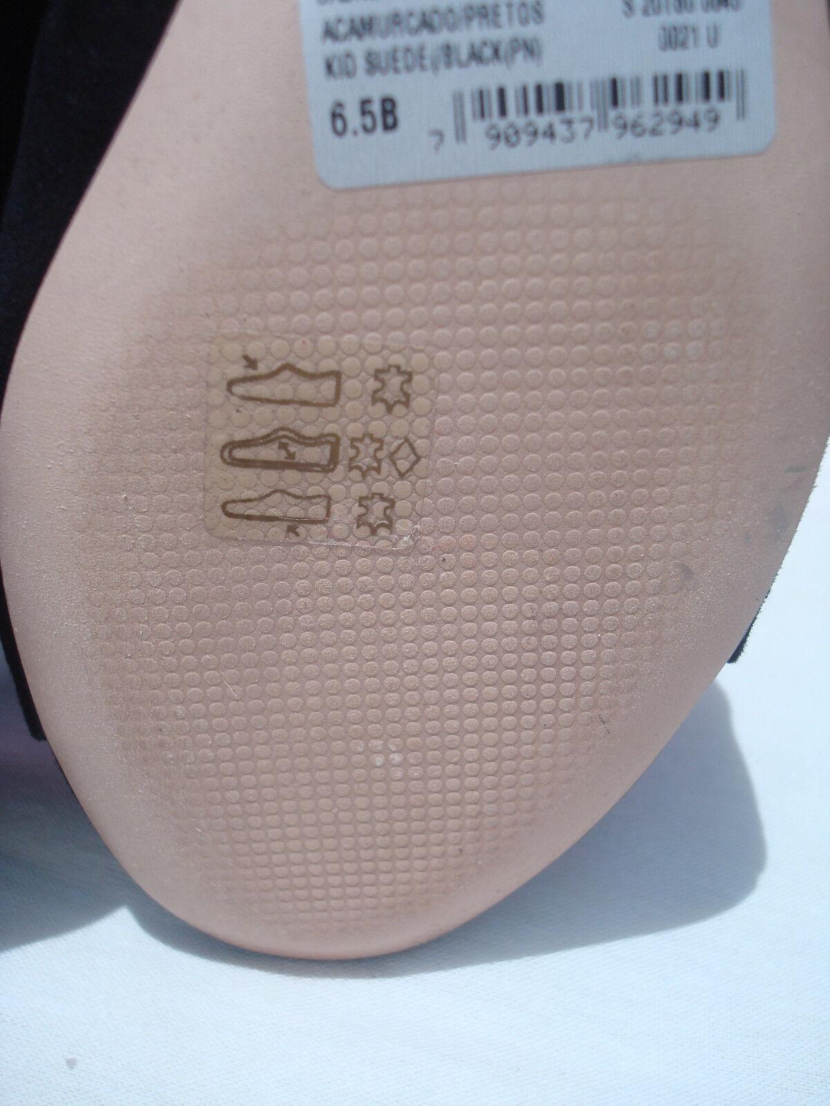 New Schutz Jaene nero nero nero Kid Suede donna Mule Flip Flops Sandals Open scarpe 6.5 d18c52