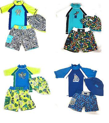 Uv Skinz Boys/' 3-piece Swim Set UPF 50 5 /& 6 Sun Protection,Size 3T,4T