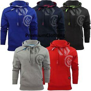 Mens-Crosshatch-Pacific-Hoody-Logo-Printed-Pullover-Hoodie-Jumper-Sweatshirt-Top