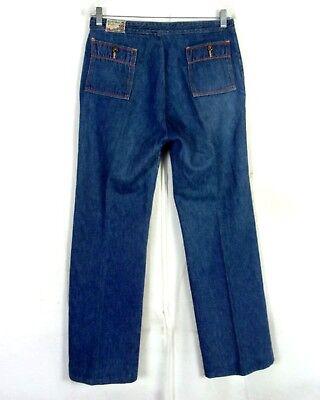 Vtg 70s Jahre Forbidden Fruit Metro Dunkle Waschung Stretch Denim Jeans