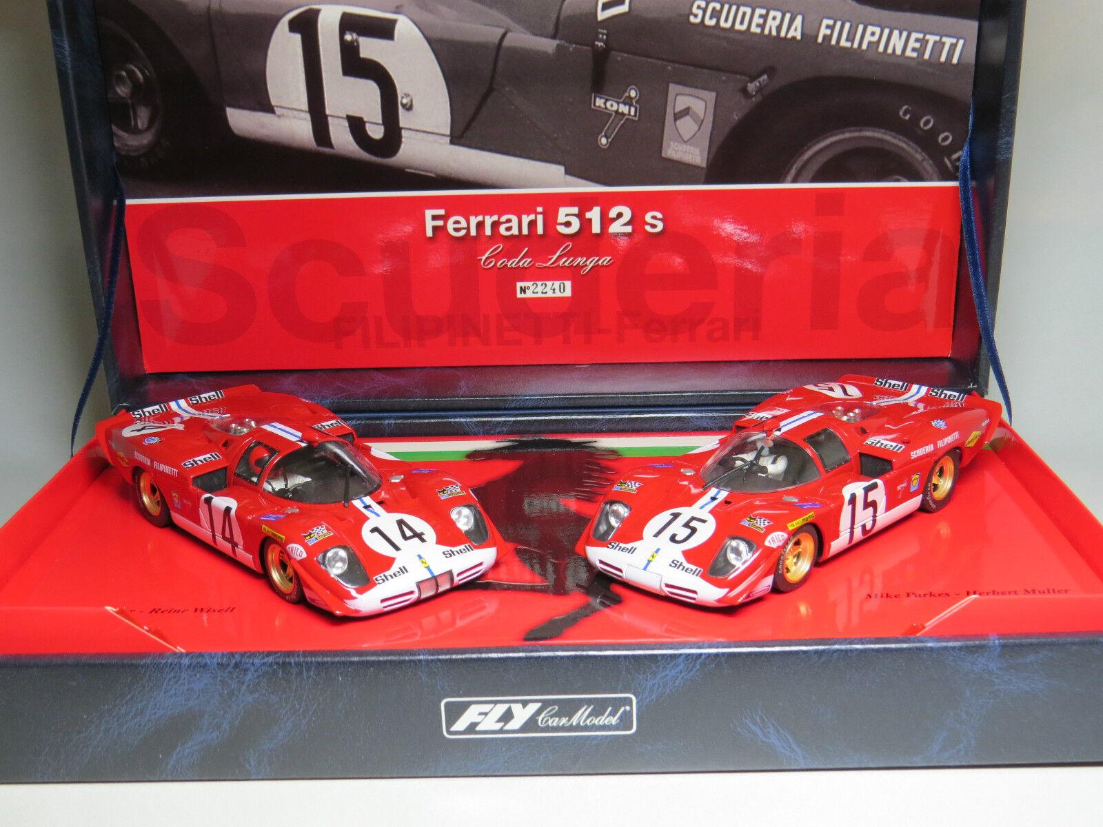 Slot racing FLY-carmodel Filipinetti-Ferrari 512S Le mans 1970  Coda Lunga
