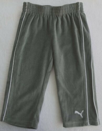 NWT PUMA Boys Gray Two Piece Velour Athletic Pant Set Size 18M, 24M MSRP$48.00
