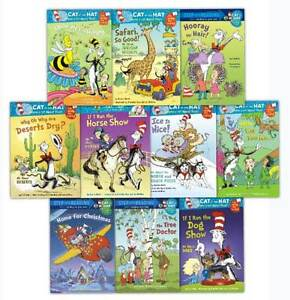 Dr-Seuss-Young-Early-Readers-Collection-10-Books-Set-Cat-in-the-Hat-Ice-is-Nice