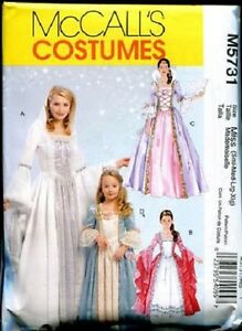 McCall-039-s-M5731-Mother-Daughter-Princess-Fairy-Medieval-Queen-Costume-Pattern