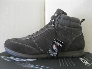 Geox-U-Speed-N-Mud-scarpe-uomo-sneakers-alte-in-Pelle-fango-tg-46-USA12-5-125