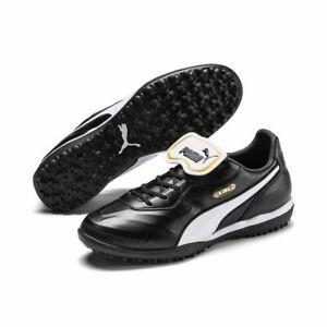 PUMA-foot-King-Top-TT-Chaussures-de-Foot-Adultes-Noir-Blanc