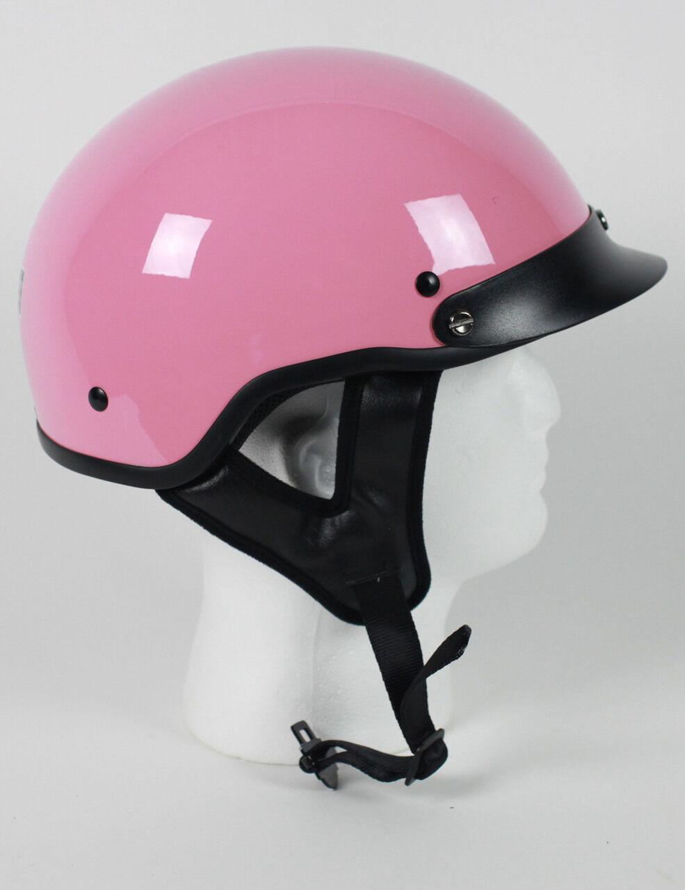 D.O.T PINK MOTORCYCLE HALF HELMET BEANIE HELMETS SHORTY LIGHTER NEW