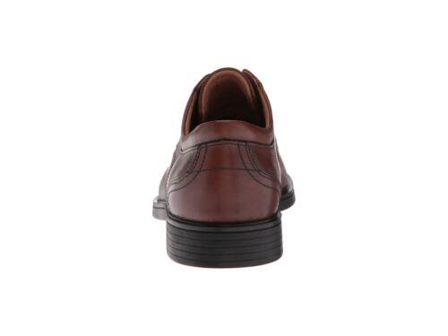 Clarks UN ALDRIC LACE Mens Dark Tan Leather 32673 Lace Up Comfort Oxford Shoes