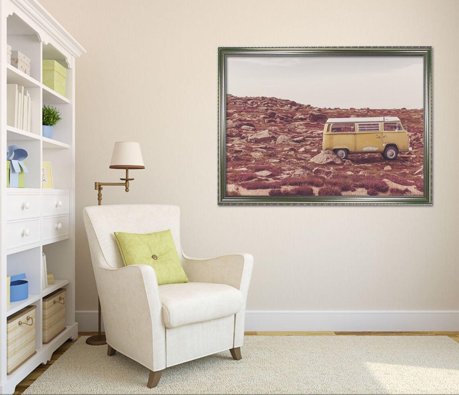 3D Land coche 5 Póster Enmarcado Decoración del Hogar Pintura de Impresión Arte AJ Wallpaper