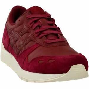 Asics Gel-Lyte Rétro à Lacets Homme Baskets Chaussures Décontractées-Bordeaux-Taille 10