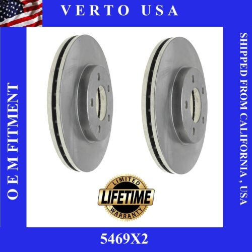 Front Brake Rotors Verto USA  5469X2 Limited Life Time Warranty