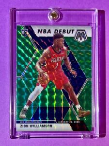 Zion Williamson GREEN REFRACTOR ROOKIE MOSAIC PRIZM 2019-20 NEW ORLEANS RC Mint!