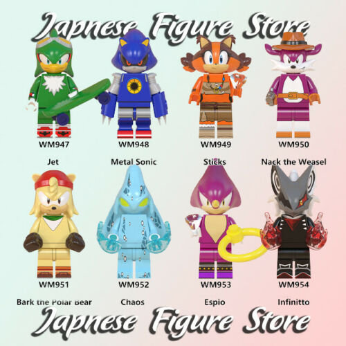 New Minifigures Sonic the Hedgehog Chaos Character Christmas Infinitto lego MOC