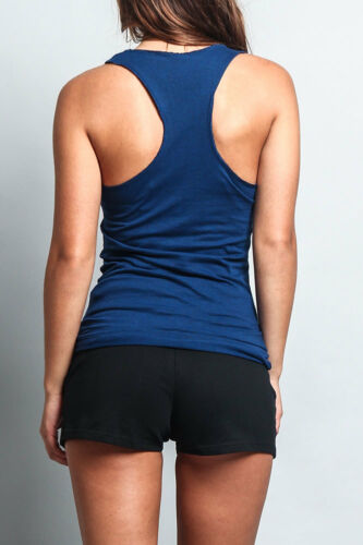 Women/'s Racer back Basic Light Weight Yoga Gym Active Workout Tank Top 2-Pack