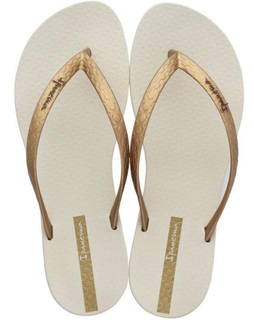 Ipanema Women`s Flip Flops Wave Heart Sandal Black Silver Brazilian Sandals NWT