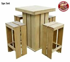 Item 1 Outdoor Dining Bar Table Garden Set Furniture 4 Stool Chairs Patio Pub Tall Seat