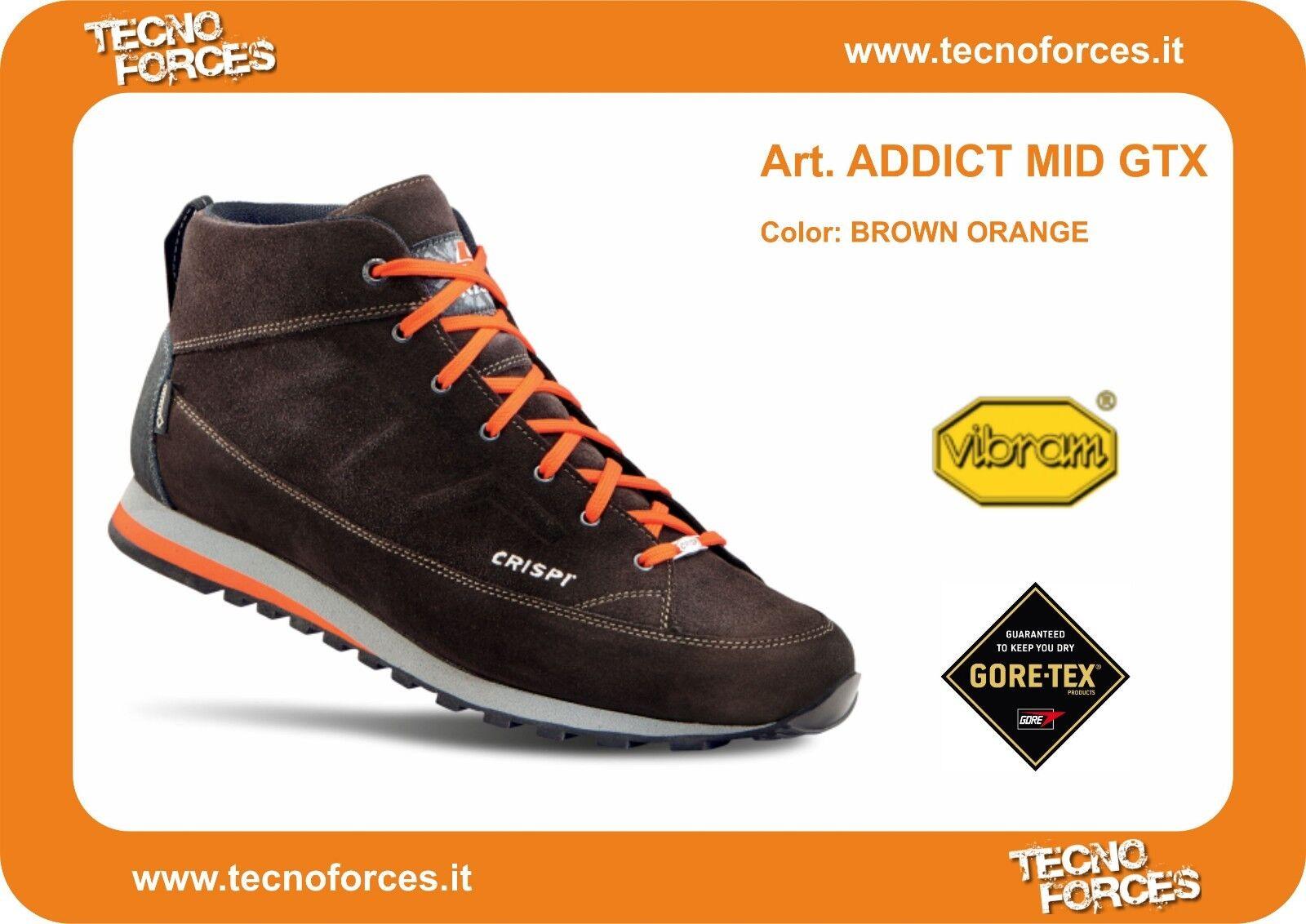 Scarpa Crispi Addict Mid GTX goretex goretex goretex outdoor made in Italy scarpe da ginnastica c2aa8b