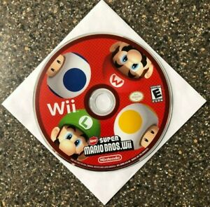 New-Super-Mario-Bros-Wii-Nintendo-Wii-Disc-Only-Clean-amp-Tested-Free-Ship