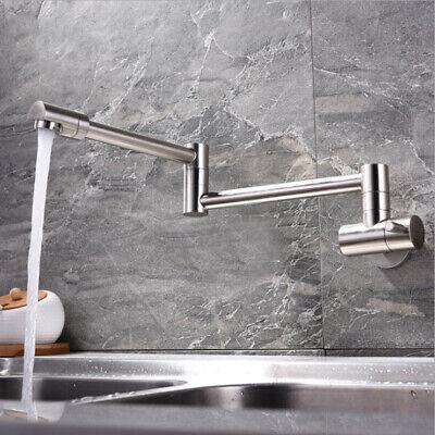 Matte Black Kingston Brass KS8100DKL Concord Wall Mount Pot Filler Kitchen Faucet