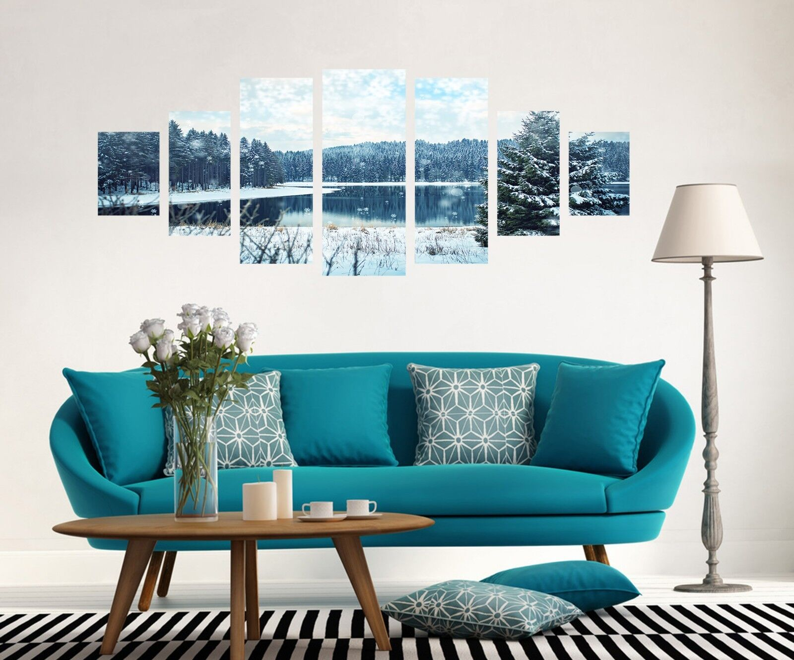3D Forest Trees Lake 125 Unframed Print Wall Paper Deco Indoor AJ Summer