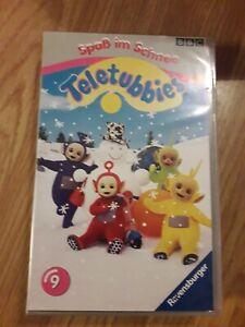 Teletubbies-Spass-im-Schnee-VHS-Kassette