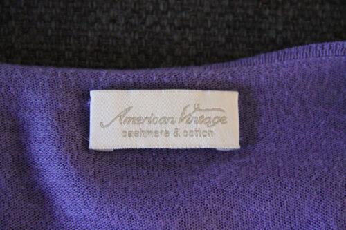 End Vintage M Cashmere Viola In Taglia American Mint Vest Pretty C5ZB7