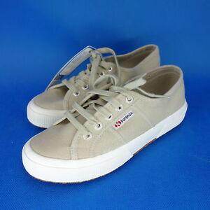 SUPERGA scarpe donna gr37gr37 Basse da ginnastica con lacci beige NP 79 NUOVO