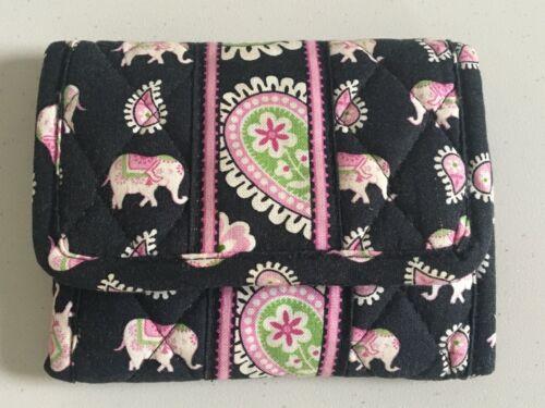 Vera Bradley Pink Elephants Trifold Wallet
