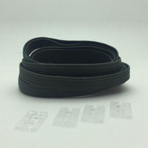 2x Elastische No Tie Schnürsenkel Schnellverschluss Laufsport 100cmX7mm Whs Neue