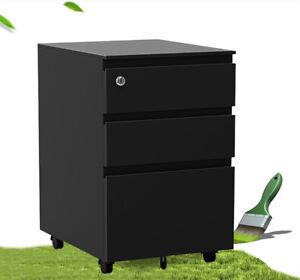 Image Is Loading 3 Drawer Filing Cabinet Rolling Metal File Organizer